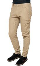Pantaloni uomo in lino beige estivi casual eleganti tasca america da 44 a 56