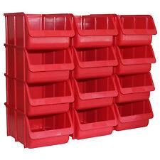12x Profi Sichtboxen PP Größe 4 rot NEU Stapelbox Sicht-Lagerbox Boxen Sichtbox