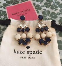 Kate Spade Chandelier Earring drop dangle gem sapphire MIDNIGHT NAVY BLUE/Cream