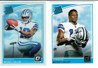2018 Michael Gallup Donruss & Donruss Optic Rated Rookie RC LOT Cowboys 🔥