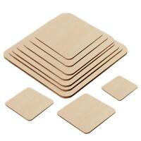 10er Pack Holzausschnitte für Basteln DIY Holz Rechteck Leere Stücke