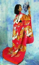 KAWAII Japanese kimono UCHIKAKE Brilliant color made of silk made in Japan