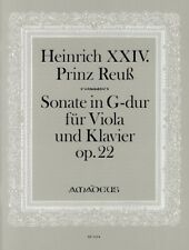 Sonata G major op. 22 Heinrich XXIV. J.L., Prinz Reuss viola and piano 979001
