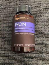 Amazon Elements Iron 18mg Vegan 195 Capsules