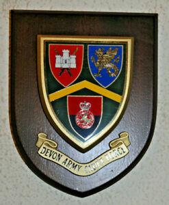 Devon Army Cadet Force regimental mess wall plaque crest shield Devonshire ACF