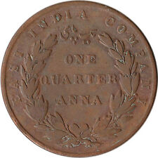 1835 British East India Company 1/4 Anna Coin KM#446.2
