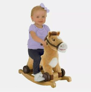 Rockin' Rider Charger 2-in-1 Pony Ride or Rock Fun Play Kids Children Animal Toy