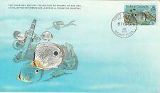 1979 Turks&Caicos Island FDC card Fishes