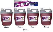 4 X 5L P-OFF PET URINE SMELL ODOUR REMOVER - WEE FAECES POO CAT DOG - CHERRY