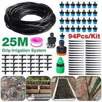 25M Drip Irrigation System 30x Dripper Plant Self Watering Micro Garden Hos