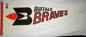 Vintage Buffalo Braves 1969 NBA Properties Full Size Pennant *VG Condition**