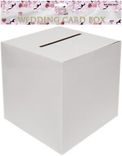 WEDDING RECEPTION PTY PLAIN WHITE SQUARE POST BOX MONEY GIFT CARD RECEIVING POST