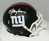 LAWRENCE TAYLOR AUTOGRAPHED SIGNED NEW YORK GIANTS BLACK MINI HELMET BECKETT