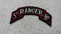 WW2 US Army 5th Ranger Battalion SSI Scroll Patch Embroidered Felt No Glow NOS
