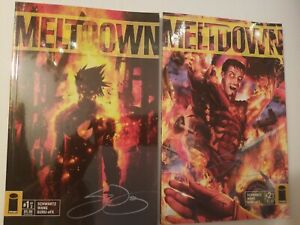 Meltdown #1 #2 Image 2006 SIGNED by Sean Wang Complete Set Run horrOr Sci Fi