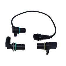 Set of 3 Engine Camshaft & Cranskshaft Position Sensor For BMW 12141709616 New