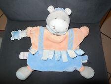 Marionnette âne cheval Mario étiquettes orange bleu DOUDOU ET COMPAGNIE