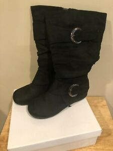 WOMEN'S WANTED KARMA TALL BLACK BOOT SIZE 8 IN ORIGINAL BOX
