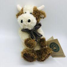 Boyds Bears Plush Cow Ernestine Vanderhoof 10� Jointed Stuffed Animal Farm Plaid