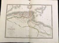 CARTE DE L'AFRIQUE PROPRE DE LA NUMIDIE ET D'UNE PARTIE DE LA MAURITANIE 1829