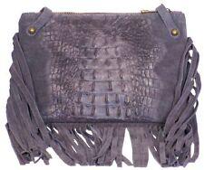 Damen-Clutch-Taschen mit Kroko-Prägung und Reißverschluss