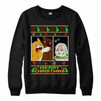 Cats Yelling at Woman Xmas Jumper, Trending meme Merry Christmas Jumper Top