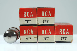 5 Vintage RCA 7F7 / VT-189 / CV893 Loctal Twin Triode Audio Frequency Radio/TV-