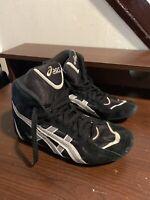Asics Ultimate Mens Wrestling Shoes Size 7.5 US Black/White Sneaker JL002