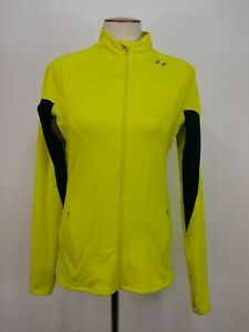 Under Armour All Seasons Gear Full Zip Long Sleeve Neon Yellow Jacket Small