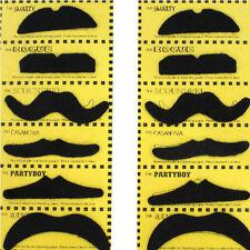 12pcs Costume Fake Mustache Moustache Fake Beard Whisker Kids/Adult Party Fun@x