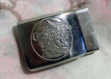 ANCIENNE BOUCLE DE CEINTURE métal chromé CORRIDA Torero toréador 48 x 32 mm 3def57dd2d8
