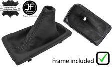 Polaina Cuero Negro Puntada Auto Gear + Marco Plástico Para Hyundai Tucson 16-18