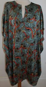 Multicoloured Frank Usher Print Tunic Top with belt - one size and new