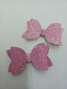 2  dusky pink  Hairbows  from 0.99p BARGAIN   .......NEW COLOUR