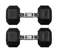 Hex Dumbbells Hexagonal Rubber Encased Ergo Weights Sets Gym Set Fitness Weight 35kg Pair
