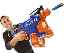NERF N Strike Elite Hyper Fire Blaster 25 Darts Gun Long Shot Toy Gift Kids