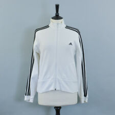 Retro Adidas White Track Suit Zip Top Vintage Sportswear Women's Medium UK 12 14