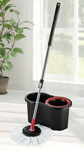 Mop and Bucket Floor Cleaning System Microfiber 360 Spin Mop
