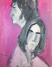 VINTAGE OIL PAINTING ABSTRACT PORTRAIT FIGURES