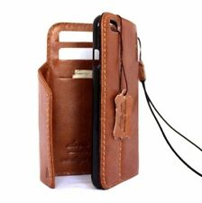 genuine natural leather case for iphone 7 handmade wallet book cover magnet id R