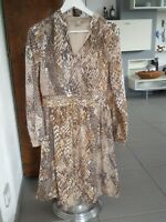 H&M kurz Kleid Stretch Python Schlange Gr. M L 38/40 braun, beige, EDEL, NEU