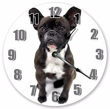 "10.5"" FRENCH BULLDOG PUPPY DOG CLOCK Large 10.5"" Wall Clock Home Décor - 3044"