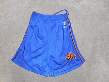Reebok New York Knicks Basketball Shorts Adult Medium Blue Mesh NBA Mens