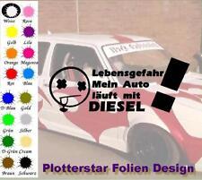 Lebensgefahr Diesel Ruß Aufkleber Sticker JDM Hater Fun OEM Feinstaub VW