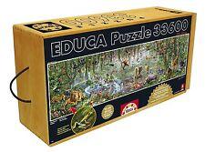 Educa Borrás 16066 -Puzzle de 33600 piezas- Vida salvaje - 5,70x1,57m