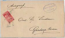 ITALIA REGNO: storia postale - Sass 100  ISOLATO su BUSTA - 1913