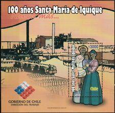 Chile 2007 Scott # 1492 Block Souvenir - Santa Maria de Iquique Massacre -MNH