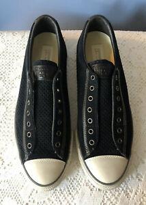 Converse X John Varvatos Black Suede Low Top Sneakers Shoes Men's US 10.5