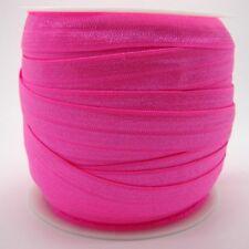 20mm Shocking Pink Fold over elastic