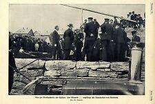 Nordlandreise des Kaisers Deputation/ Brandstätte von Aalesund Hohenzollern 1904
